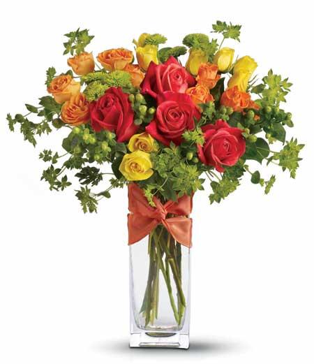 Cam Vazoda Çiçek