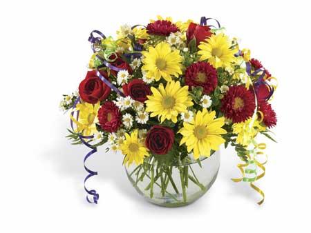 Cam Vazoda Çiçekler