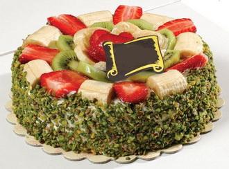 Meyve ve Antep Fıstıklı Pasta