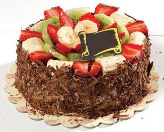 Karışık Meyve ve Çikolatalı Pasta