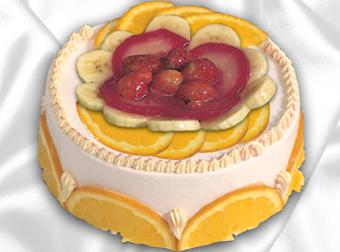 Özel Portakal ve Çilekli Pasta