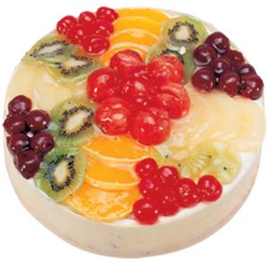 Karışık Meyve Kaplı Pasta